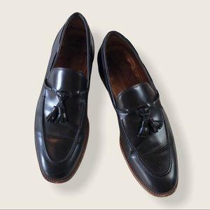 Antonio Maurizi Black Leather Tassel Loafers 43